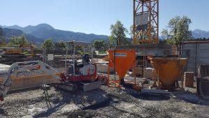 Haus bauen Baustelle